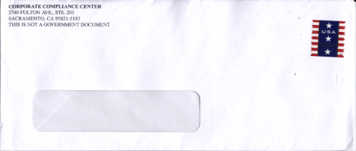The Envelope in which the letter was sent to me.