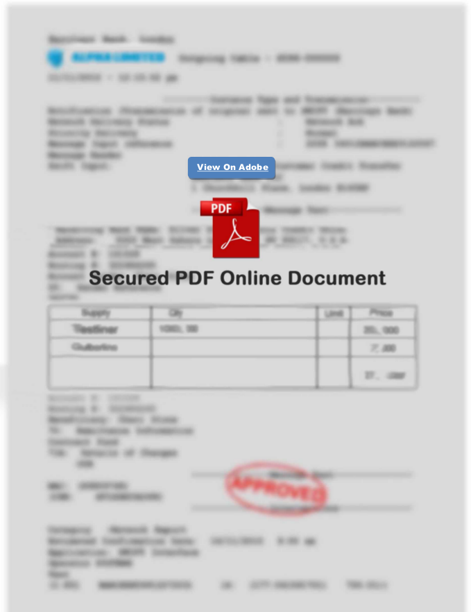 Invalid Invoice with a Link to a hacker's page