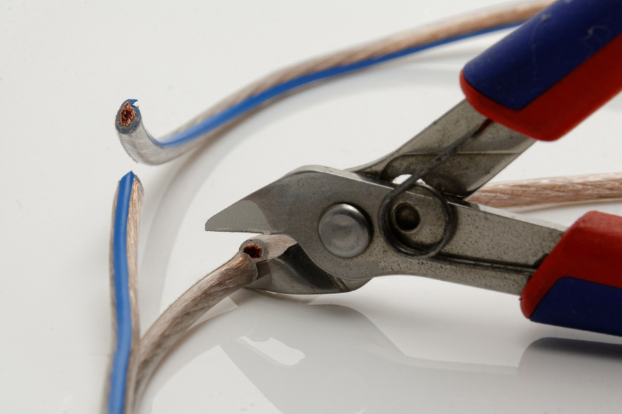 Pliers Cutting Cable—you're going to be deactivated... sorry!